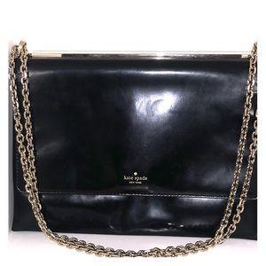 Kate Spade black leather handbag or clutch
